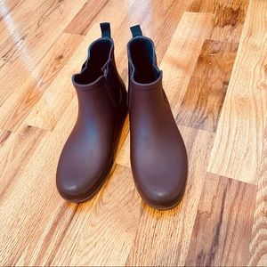 Madewell Burgundy Chelsea Rain Boots Pre-owned